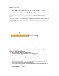 Chapter 27 Solutions PSS 27.2 The Electric Field of a Continuous