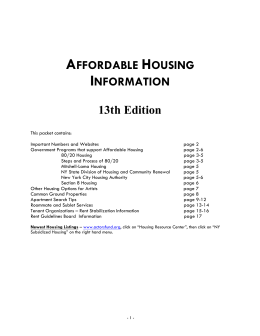 affordable housing information