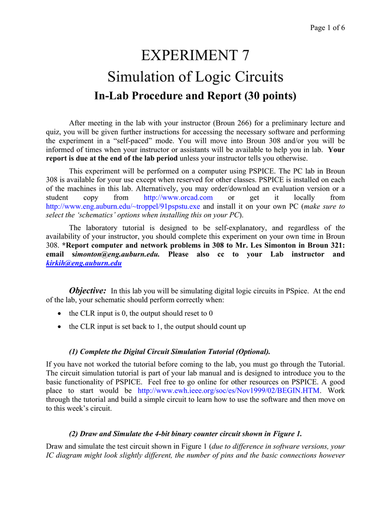 Experiment 7 Simulation Of Logic Circuits Diagram Simulator