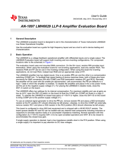 AN-1897 LMH6629 LLP-8 Amplifier Evaluation Board (Rev. B)