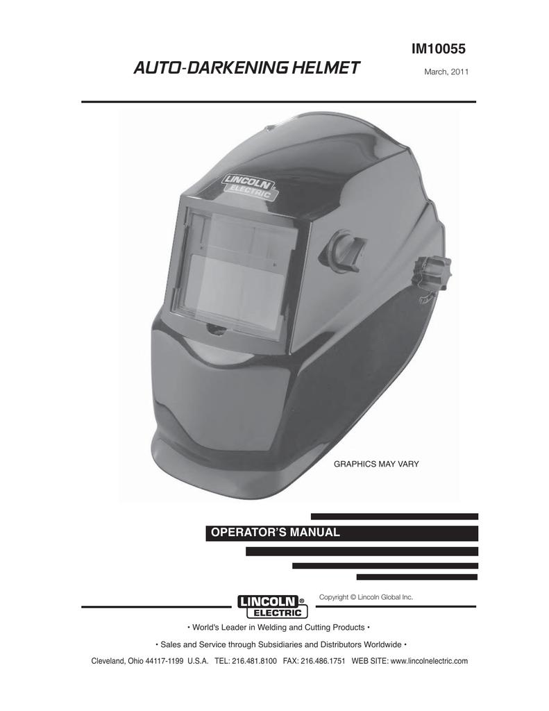 Manual Northern Tool Equipment Welding Helmet Diagram