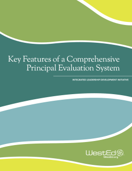 Key Features of a Comprehensive Principal Evaluation