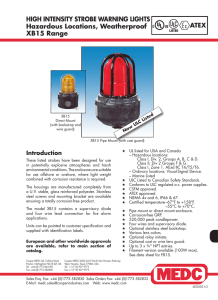 HIGH INTENSITY STROBE WARNING LIGHTS Hazardous