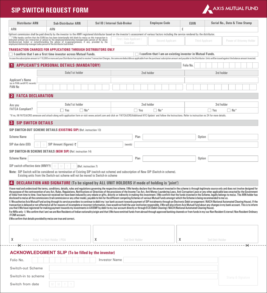 latest kyc form for mutual fund
