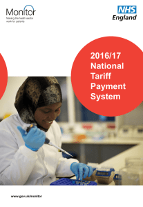 2016/17 National Tariff Payment System