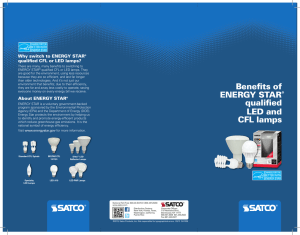Benefits of ENERGY STAR® qualified LED and CFL lamps
