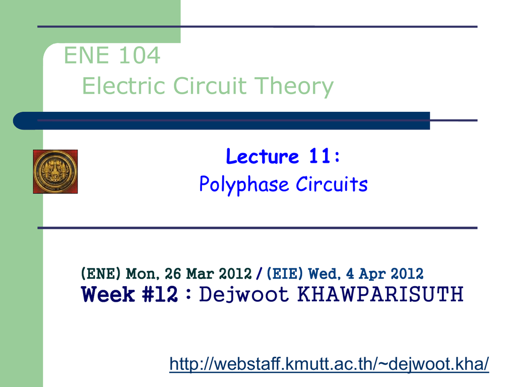 Polyphase Circuits Web Page For Staff 12 Parallel Ac