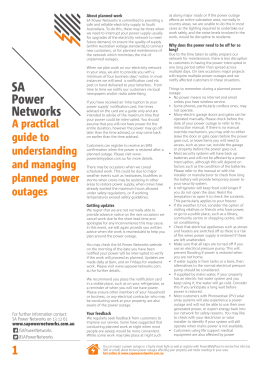 planned power interruptions