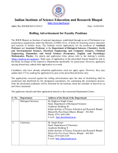 Indian Institute of Science Education and Research Bhopal