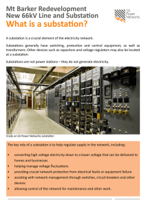 A substation is a crucial element of the electricity network