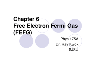 Chapter 6 Free Electron Fermi Gas (FEFG)
