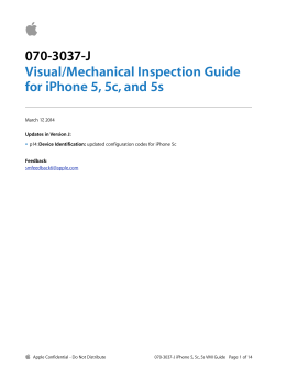 070-3037-J Visual/Mechanical Inspection Guide for iPhone 5, 5c