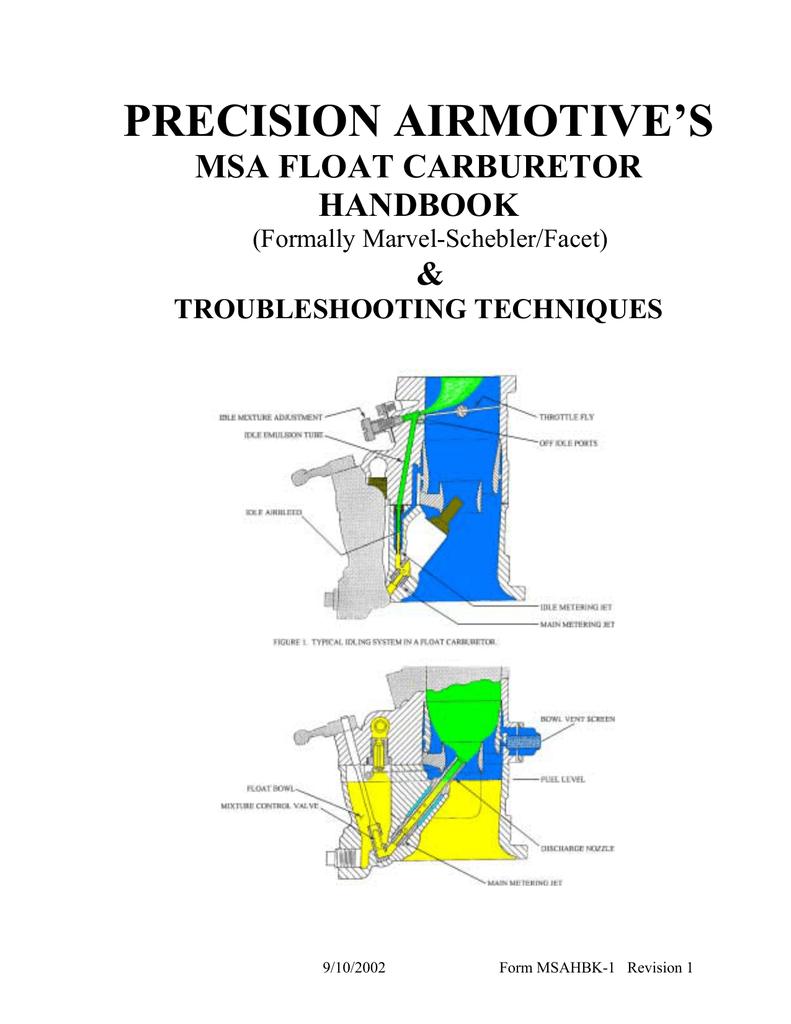 precision airmotive`s msa float carburetor handbook
