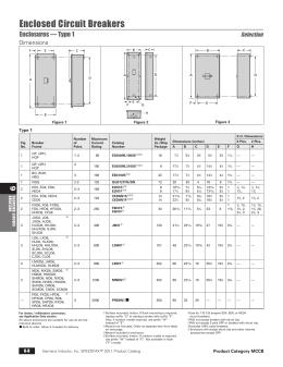 contents siemens enclosed circuit breakers