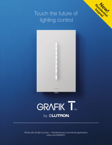 Touch the future of lighting control