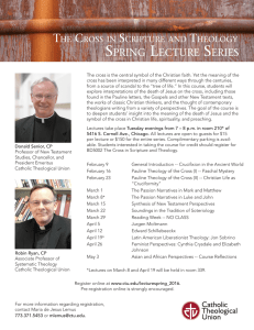 spring lecture series - Catholic Theological Union