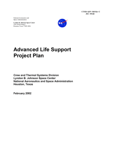 Advanced Life Support Project Plan