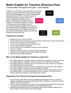 Better English for Teachers (Erasmus Plus)