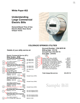Understanding Large Commercial Electric Bills