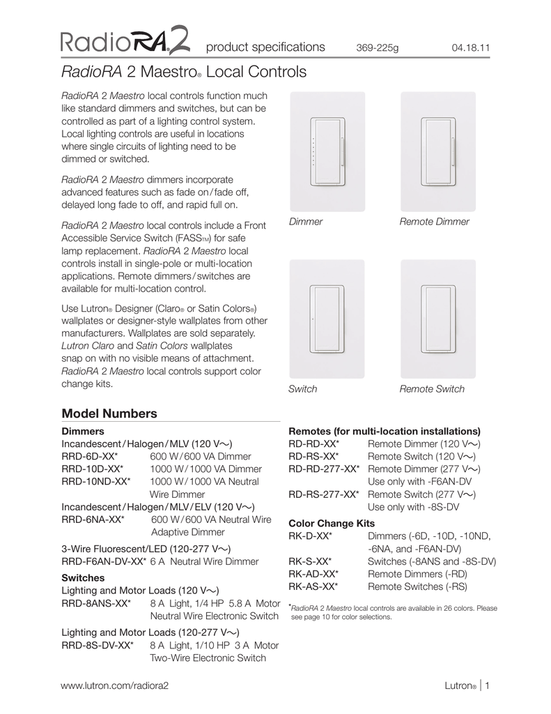 Unique Wiring Diagram Lutron Radiora 2 Ensign - Electrical and ...