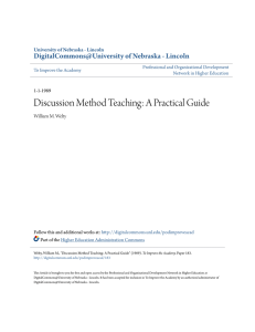 Discussion Method Teaching: A Practical Guide