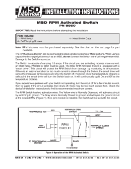 msd 5520 ignition control module installation instructions msd 8950 rpm switch installation instructions