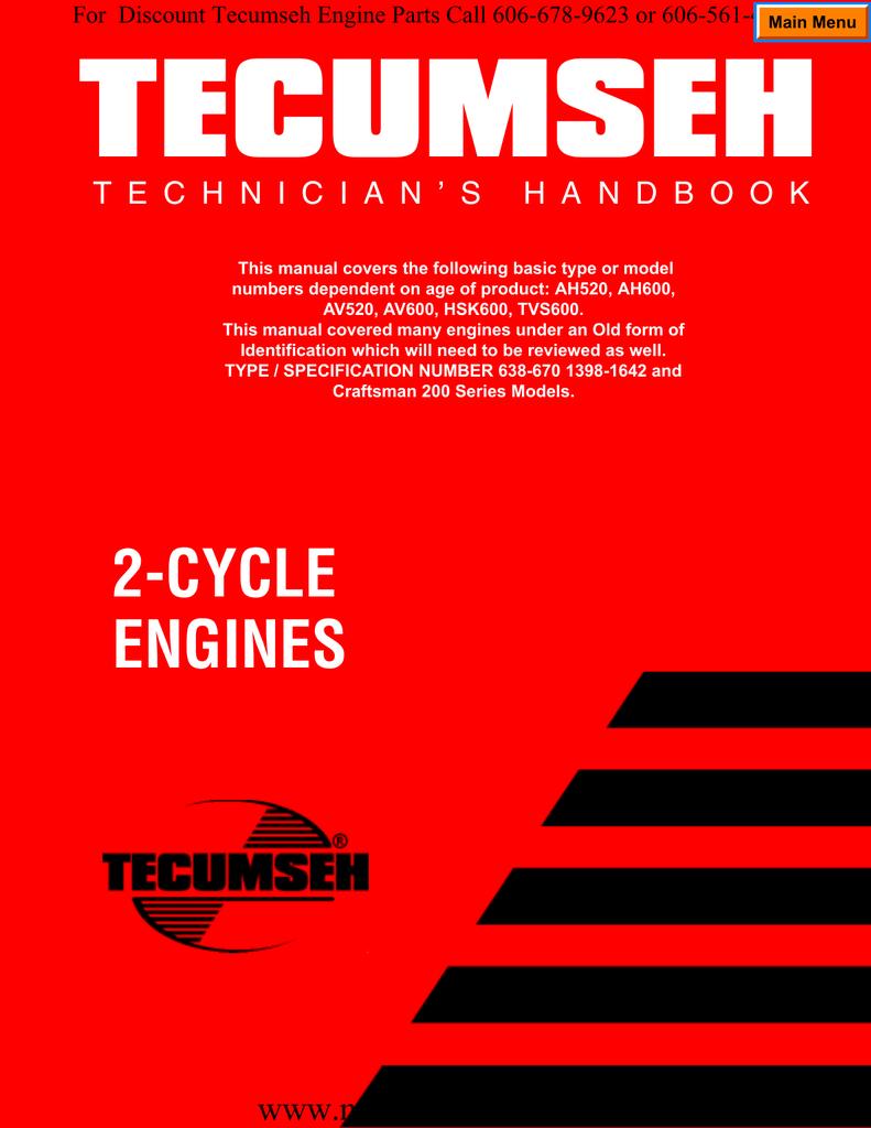 REPAIR MANUAL 2 CYCLE AH520 AH600 AV520