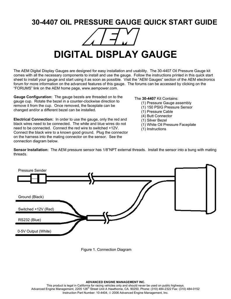 Aem Oil Pressure Sensor Wiring - Wiring Diagram Perfomance Oil Pressure Sensor Pin Wiring Diagram on