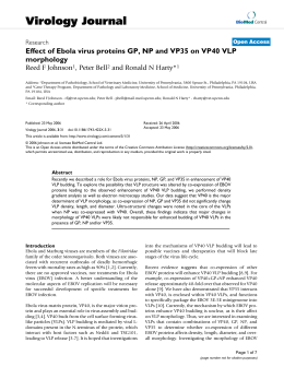 Effect of Ebola virus proteins GP, NP and VP35 on VP40 VLP