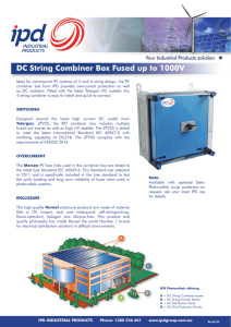 DC String Combiner Box Fused up to 1000V