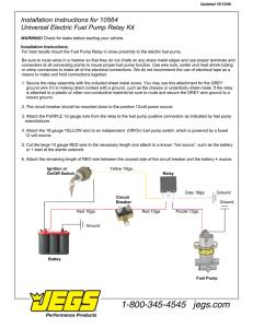 Xenocron Fuel Pump Relay Kit