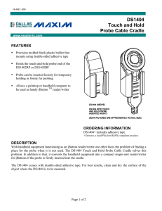 DS1404 Touch and Hold Probe Cable Cradle