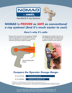 NOMAD is PROVEN as SAFE as conventional x-ray systems!