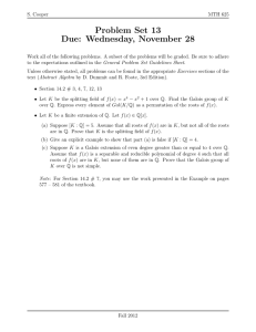 Problem Set 13 Due: Wednesday, November 28