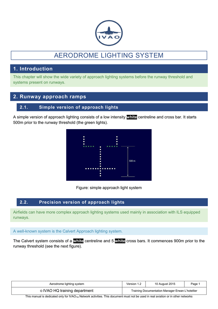 Aerodrome lighting system