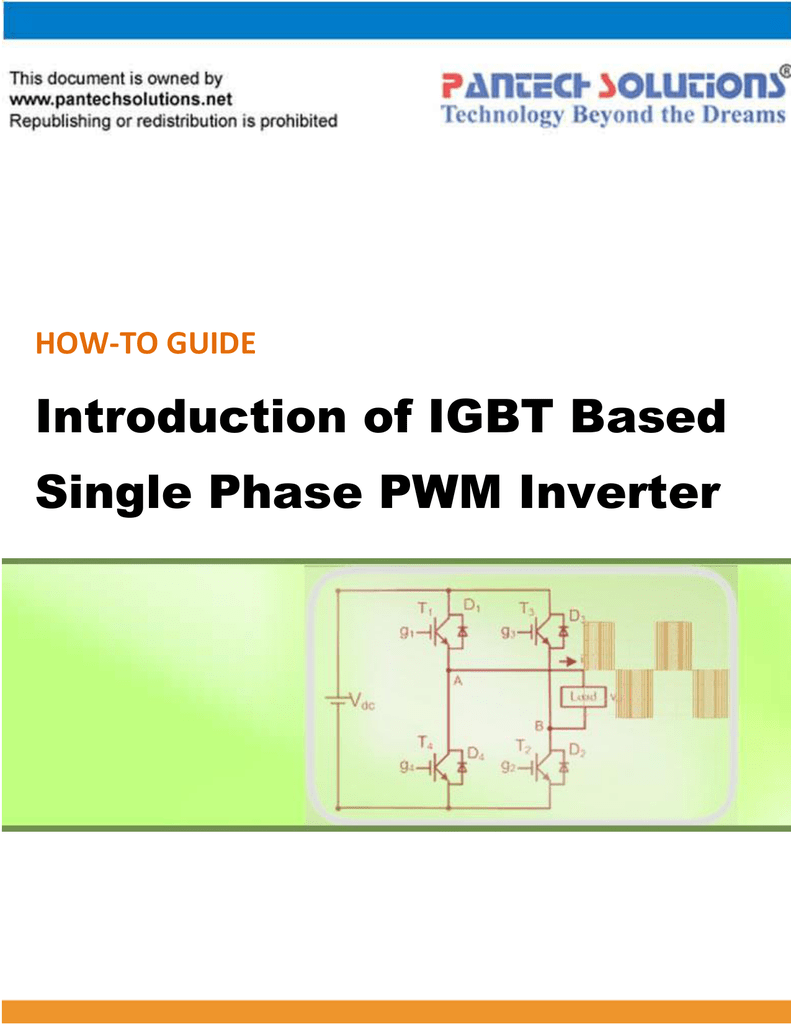 Introduction Of Igbt Based Single Phase Pwm Figure 3 Simple Inverter Circuit Using