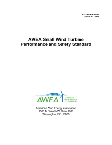 AWEA Standard - Small Wind Certification