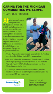 CARING FOR THE MICHIGAN COMMUNITIES WE SERVE.