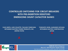 CONTROLLED SWITCHING FOR CIRCUIT BREAKERS WITH PRE