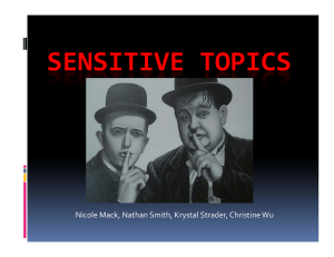 Sensitive Topics