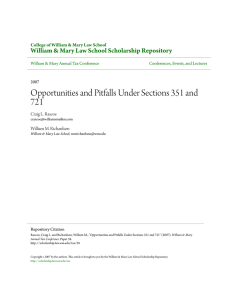 Opportunities and Pitfalls Under Sections 351 and 721