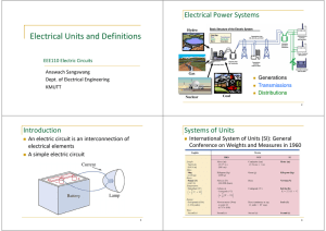 Electrical Units and Definitions