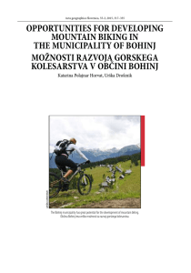 oPPoRtUnities FoR develoPing MoUntain biKing in the