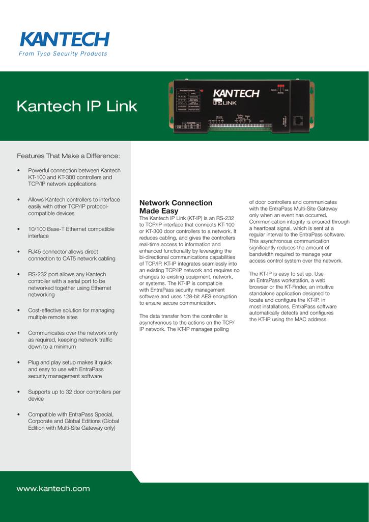 Kantech IP Link on
