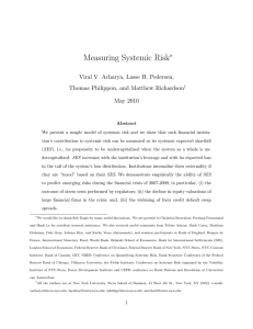 Measuring Systemic Risk - NYU Stern School of Business