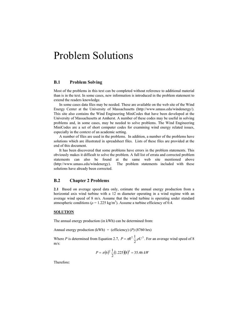 Problem Solutions Montana State University