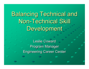 Balancing Technical and Non-technical Skill Development