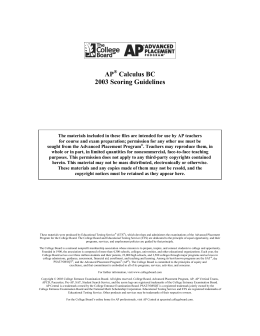 2004 AP Calculus AB Form B Scoring Guidelines - AP Central
