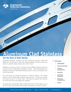 Aluminum Clad Stainless - Engineered Materials Solutions