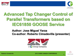 Advanced Tap Changer Control of Parallel Transformers based on